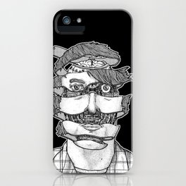 portrait of the artist as an unraveling drone iPhone Case
