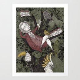 Wolfgang Amadeus Mozart--Seeing the Music Art Print