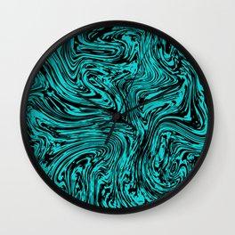Marble pattern sea wave Wall Clock