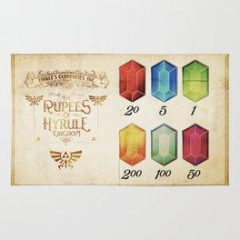 Legend of Zelda - The Rupees of Hyrule Kingdom Guide Rug