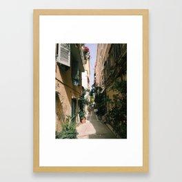 Corfu Alley Framed Art Print