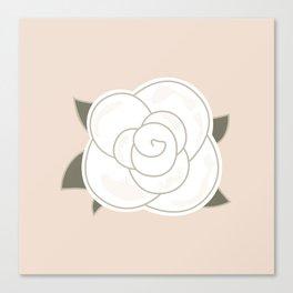 White vintage rose. Vector Illustration Canvas Print