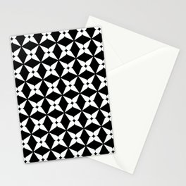 Geometric Pattern 247 (white crosses) Stationery Cards