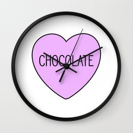 Chocolate Heart Wall Clock
