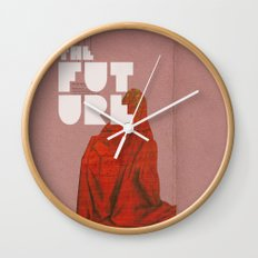 The future a time to reminisce. (mixed media) Wall Clock