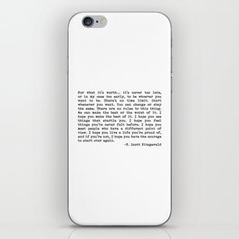 For what it's worth... F. Scott Fitzgerald iPhone Skin