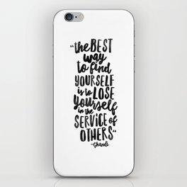 FIND YOURSELF - Ghandi iPhone Skin