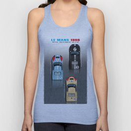 GT40 Le Mans 1966, Finish side by side Unisex Tank Top