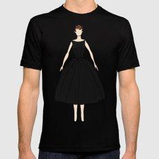 Audrey Hepburn Vintage Retro Fashion 1 Black MEDIUM Mens Fitted Tee