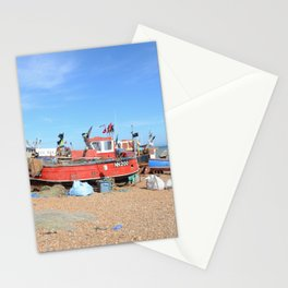 Fishing Boats On The Beach - Hastings, England Stationery Cards