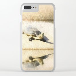 Hilaire's toadhead turtle Clear iPhone Case