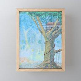 a tree house Framed Mini Art Print