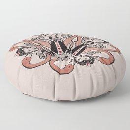 Queen of Hearts mandala Floor Pillow