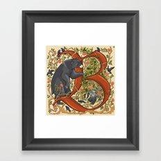 Illustrated Letter B Framed Art Print