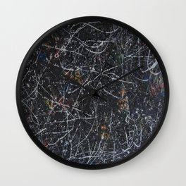 Crazy Ones Inspired by the late J Pollack  Wall Clock