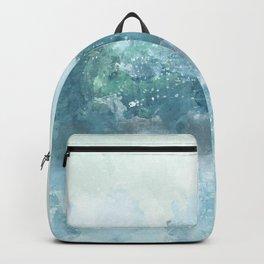 Choppy Blue Ocean Water Backpack