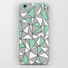 Abstraction Lines with Mint Blocks iPhone Skin