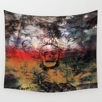 fear Wall Tapestries featuring FEAR by sametsevincer