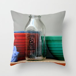 Shelved Yet Easily Accessible Throw Pillow