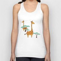 giraffes Tank Tops featuring Giraffes by BlueLela