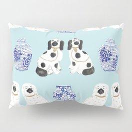 Staffordshire Dogs + Ginger Jars No. 7 Pillow Sham