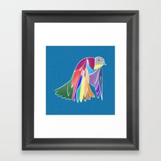 Bird - Blue Framed Art Print