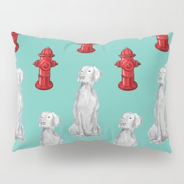 HYDRANTS AND WEIMARANERS Pillow Sham