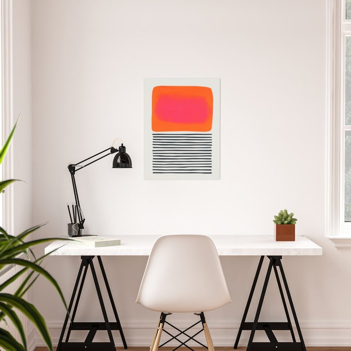 Sunset Ripples Poster