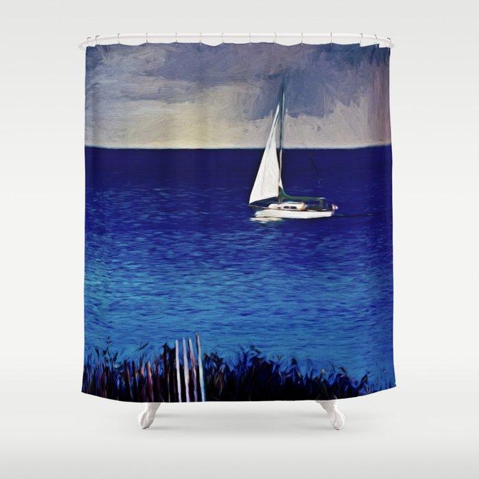 Huron Sails Shower Curtain