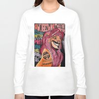 simba Long Sleeve T-shirts featuring Captain Simba Sparrow of Pride Rock by Frances May K