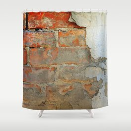 Old brick wal Shower Curtain