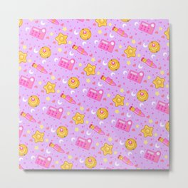 Usagi's Items Pattern / Sailor Moon  Metal Print