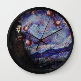 Death Night Blossom Wall Clock