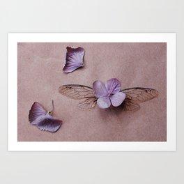 Cicada :: Hydrangea Art Print