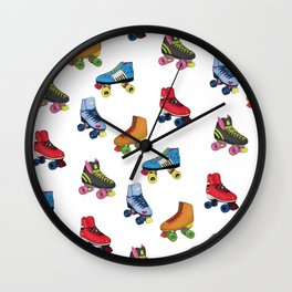 Burger Family Roller Skates  Wall Clock