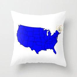 State of Rhode Island Throw Pillow