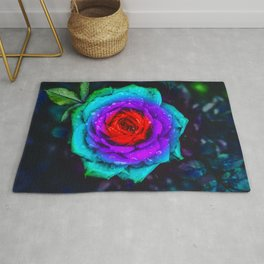 Colorful Rose Rug