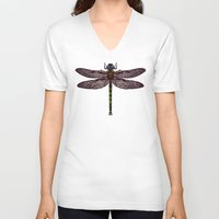 dragonfly V-neck T-shirts featuring dragonfly by Sharon Turner