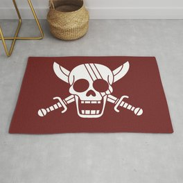 Red Hair Pirates Jolly Roger Rug