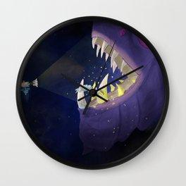 Nero Svenfor: Deep space Monster's dental care Wall Clock