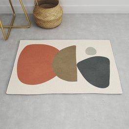 Abstract Balancing Stones Rug