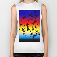 hawaiian Biker Tanks featuring Hawaiian Sunset by Designed by Lotito