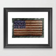 Stars and Stripes, America Framed Art Print