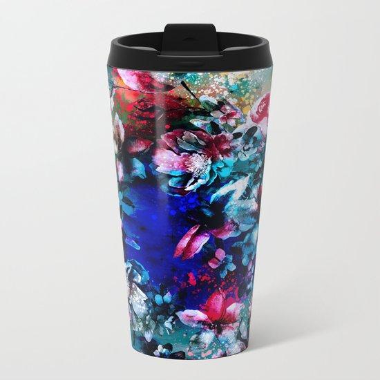 RPE SEAMLESS FLORAL VI Metal Travel Mug