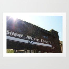 Silent Movie Theatre Art Print