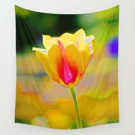 Orange Tulip Wall Tapestry