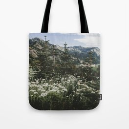 Mount Rainier Summer Wildflowers Tote Bag