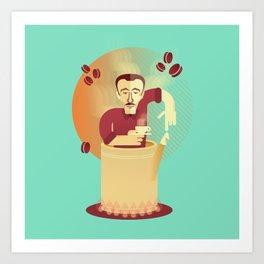 Eduardo's coffee Art Print