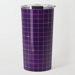 Purple retrowave grid Travel Mug