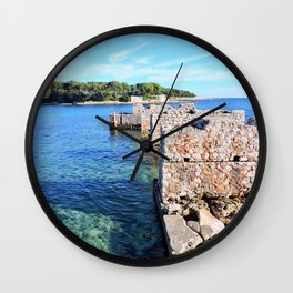 Saint Jean Cap Ferrat Winter Left Wall Clock